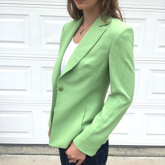 Vintage Jackets & Blazers - Vintage Georgiou Studio | Green One Button Blazer